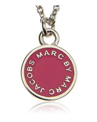 Marc By Marc Jacobs - Pink Enamel Disc Necklace - Lyst