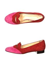 Charlotte Olympia | Red Bisoux Loafers | Lyst