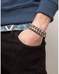 DIESEL - Brown Leather Bracelet for Men - Lyst