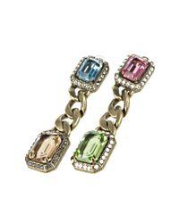 Lanvin | Pink Vintage Look Earrings | Lyst