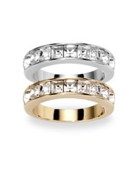 Swarovski | Metallic Crystal Band Ring Set | Lyst