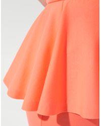 Zara | Orange Dress with Frill Around The Waist | Lyst