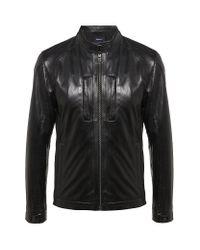 Z Zegna | Black Leather Biker Jacket for Men | Lyst