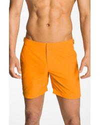 Orlebar Brown | Orange Swim Trunks for Men | Lyst