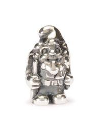 Trollbeads | Metallic Silver Garden Gnome Charm | Lyst
