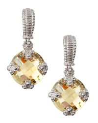 Judith Ripka | Metallic Canary Olivia Earrings | Lyst