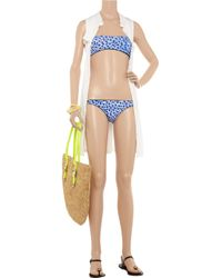 Just Cavalli | Blue Reversible Bandeau Bikini | Lyst