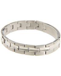Breil | Metallic Cave Stainless Steel and Carbon Fiber Bracelet for Men | Lyst