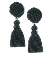 Danielle Scutt | Black Beaded Drop Earrings | Lyst