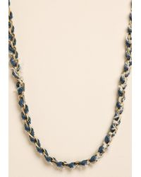 Lucky Brand - Blue Silvertone Hammered Coin Strand Necklace - Lyst