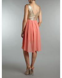 TFNC   Pink Sequin Sarah High Low Dress   Lyst