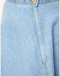 American Apparel - Blue Denim Circle Skirt - Lyst