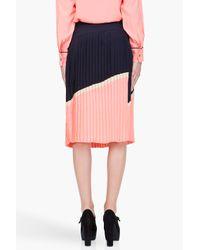Marni | Pink Peach Pleated Midi Skirt | Lyst