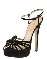 Charlotte Olympia | Black Jack Platform Sandals | Lyst