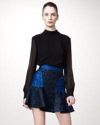 Stella McCartney   Black Patty Brocade Skirt   Lyst