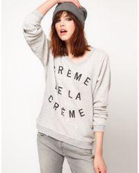 Zoe Karssen | Gray Crème De La Crème Cottonblend Terry Sweatshirt | Lyst