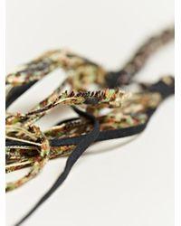 Alyssa Norton - Black Unisex Patterned Silk and Metal Necklace - Lyst