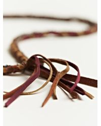 Alyssa Norton - Brown Unisex Braided Silk and Suede Necklace - Lyst