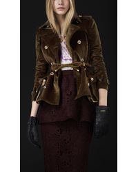 46896ea810e Burberry Prorsum Corduroy Riding Jacket in Brown - Lyst