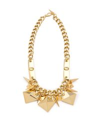 Fallon | Metallic Extra Large Stud Swag Necklace | Lyst