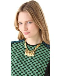 Fallon - Metallic Extra Large Stud Swag Necklace - Lyst