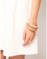 French Connection | Multicolor Three Pack Bangles | Lyst