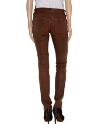 Rag & Bone - Brown Skinny Leather Pants - Lyst