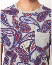 ASOS - Metallic Tooth Necklace for Men - Lyst