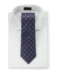 Hickey Freeman - Neat Jacquard Tie Purple for Men - Lyst