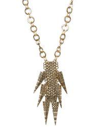 Mango   Metallic Geometric Pendants Necklace   Lyst