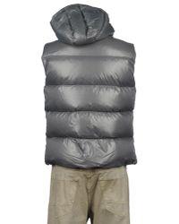 Pyrenex - Gray Sleeveless Nylon Laque Down Jacket for Men - Lyst