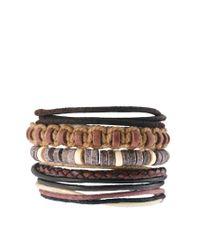 River Island | Brown Rope Bracelet Pack for Men | Lyst