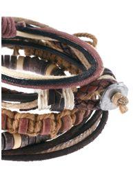 River Island - Brown Rope Bracelet Pack for Men - Lyst