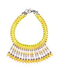 Mango - Yellow Ethnic Necklace - Lyst
