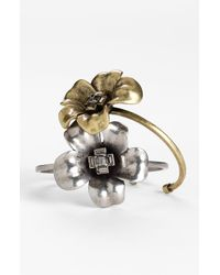 Marc By Marc Jacobs | Metallic Marc Flowers Petit Flower Cuff | Lyst
