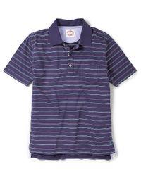 Brooks Brothers - Blue Multi Fine Stripe Jersey Polo for Men - Lyst