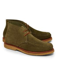 Brooks Brothers - Green Rancourt Co Suede Moccasin Chukka Boots for Men - Lyst
