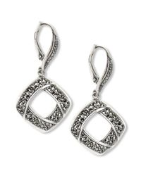 Judith Jack | Metallic Sterling Silver Marcasite Drop Earrings 1 Ct Tw | Lyst