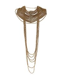 TOPSHOP | Metallic Drape Choker Necklace | Lyst