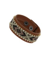 TOPSHOP - Brown Seed Bead Cuff - Lyst
