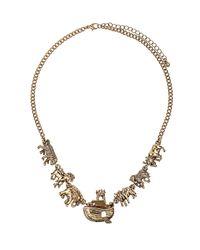 TOPSHOP | Metallic Noahs Ark Necklace | Lyst
