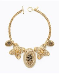 Ann Taylor | Metallic Lattice Filigree Necklace | Lyst
