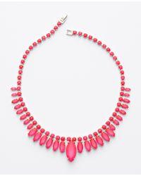 Ann Taylor | Pink Sunburst Necklace | Lyst