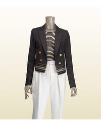 Gucci | Black Marine Jacket | Lyst