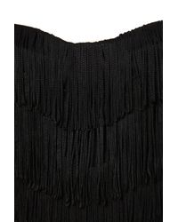TOPSHOP - Black Fringe Corset Top - Lyst
