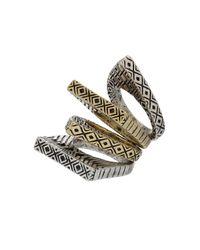 TOPSHOP - Metallic Mixed Shape Ring Set - Lyst
