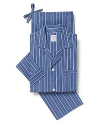 Brooks Brothers | Blue Stripe Pajamas for Men | Lyst