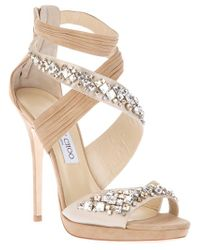 Jimmy Choo | Beige Embellished Shoe | Lyst