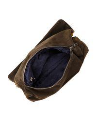 Matthew Williamson | Brown Embellished Suede Clutch | Lyst