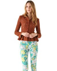 Nanette Lepore   Brown Summer Flame Lace Jacket   Lyst